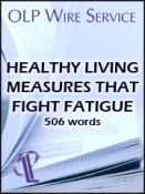 Healthy Living Measures That Fight Fatigue