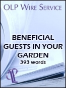 Beneficial Guests in Your Garden