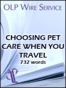 Choosing Pet Care When You Travel
