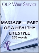 Massage — Part of a Healthy Lifestyle