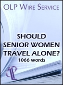 Should Senior Women Travel Alone?