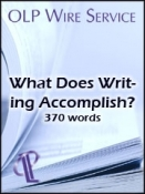 What Does Writing Accomplish?