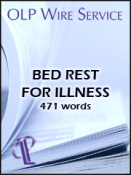 Bed Rest for Illness