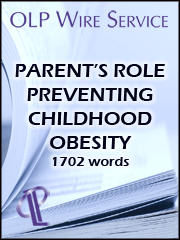 Parent's Role Preventing Childhood Obesity