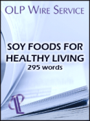 Soy Foods for Healthy Living