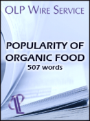 Popularity of Organic Food