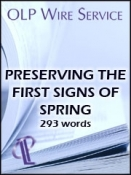 Preserving the First Signs of Spring