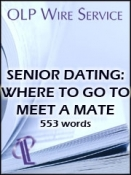 Senior dating: Where to Go to Meet a Mate