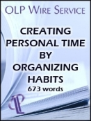 Creating Personal Time by Organizing Habits